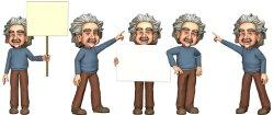 Cliparts Albert Einstein