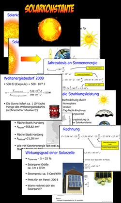 Solarkonstante, Alternative Energie