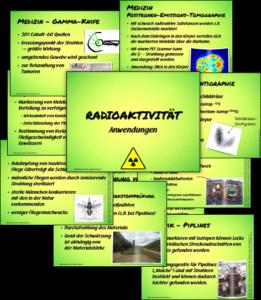 Anwendungen Radioaktivität