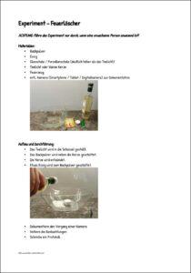 Experiment Feuerlöscher
