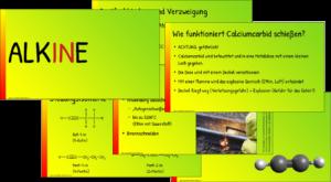 Alkine Vortragsfolien Chemieunterricht