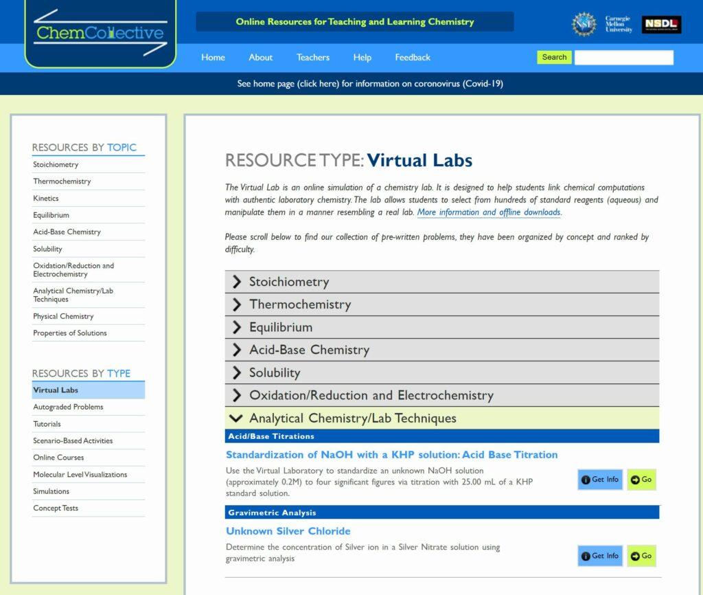 Virtuelle Labore für den Chemieunterricht